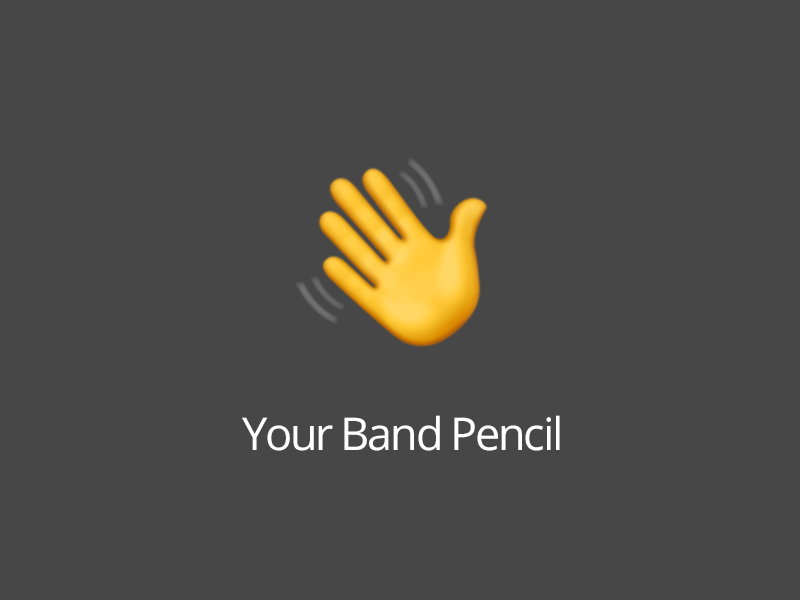 You don't have to run a band to use Band Pencil