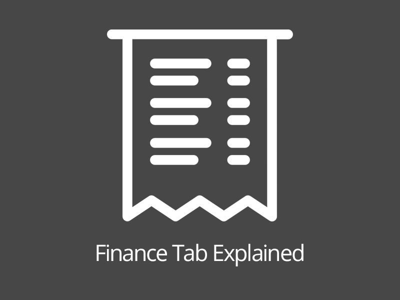 Finance Tab Explained